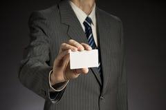 Uomo d'affari e biglietto da visita Fotografia Stock