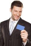 Uomo d'affari e carta di credito Fotografie Stock Libere da Diritti