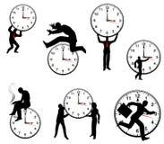 Uomo d'affari e concetti di tempo illustrazione vettoriale