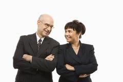 Uomo d'affari e donna. fotografia stock
