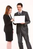 Uomo d'affari e donna di affari Immagini Stock