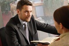 Uomo d'affari e donna di affari Immagine Stock