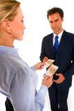 Uomo d'affari e donna di affari Fotografia Stock