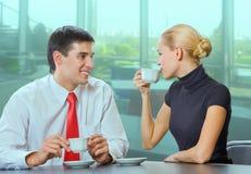 Uomo d'affari e donna di affari immagini stock libere da diritti