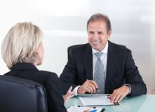 Uomo d'affari e donna di affari maturi Fotografia Stock