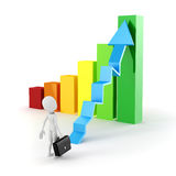 uomo d'affari e grafico dell'uomo 3d Immagine Stock