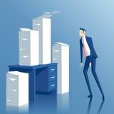 Uomo d'affari e lavoro di ufficio Immagini Stock Libere da Diritti
