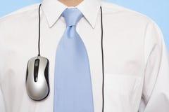 Uomo d'affari e mouse fotografia stock
