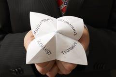 Uomo d'affari e origami Fotografia Stock Libera da Diritti