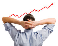 Uomo d'affari e parte crescente Immagine Stock Libera da Diritti