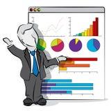 Uomo d'affari e presentazione Immagini Stock Libere da Diritti