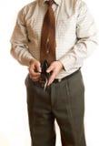 Uomo d'affari e raccoglitore Fotografie Stock Libere da Diritti