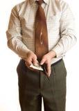 Uomo d'affari e raccoglitore Immagini Stock Libere da Diritti