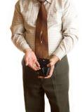 Uomo d'affari e raccoglitore Immagine Stock