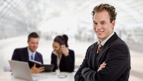 Uomo d'affari e squadra di affari fotografie stock