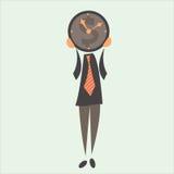 Uomo d'affari e tempo Fotografia Stock Libera da Diritti