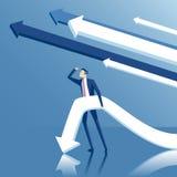 Uomo d'affari ed ambizione Fotografia Stock