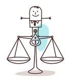 Uomo d'affari ed equilibrio royalty illustrazione gratis