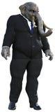 Uomo d'affari Elephant, gente di affari, isolata Immagine Stock