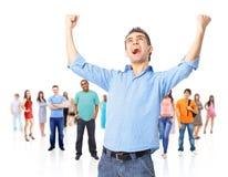 Uomo d'affari energico felice Fotografie Stock Libere da Diritti