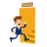 Uomo d'affari Entering The Door a successo Immagini Stock Libere da Diritti