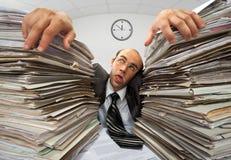 Uomo d'affari esaurito Immagini Stock