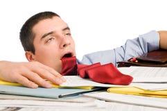Uomo d'affari esaurito Fotografia Stock Libera da Diritti
