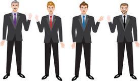 Uomo d'affari esecutivo Set, vario uomo d'affari Standing Front View - illustrazione di vettore illustrazione di stock