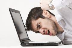Uomo d'affari estremamente arrabbiato Fotografie Stock Libere da Diritti