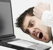 Uomo d'affari estremamente arrabbiato Fotografie Stock