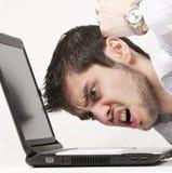 Uomo d'affari estremamente arrabbiato Immagini Stock Libere da Diritti