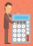 Calcolatore di affari/fare i numeri Fotografie Stock