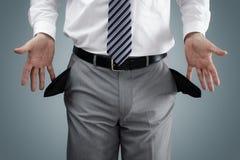 Uomo d'affari in fallimento immagine stock