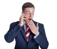 Uomo d'affari faticoso Immagine Stock