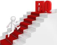 Uomo d'affari fatto funzionare al FAQ Fotografia Stock