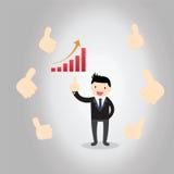 Uomo d'affari Feedback Concept Immagini Stock