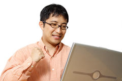 Uomo d'affari felice Immagini Stock Libere da Diritti