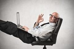 Uomo d'affari felice Immagine Stock Libera da Diritti