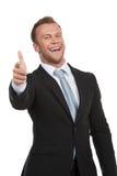 Uomo d'affari felice. fotografie stock