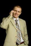 Uomo d'affari felice Immagini Stock