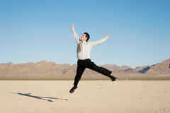 Uomo d'affari felice Immagine Stock