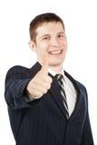 Uomo d'affari felice con il pollice in su Fotografie Stock Libere da Diritti