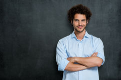 Uomo d'affari felice fiero fotografie stock libere da diritti