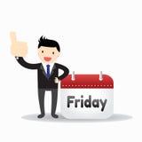 Uomo d'affari Friday Concept Fotografie Stock Libere da Diritti