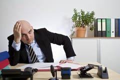 Uomo d'affari frustrato Fotografia Stock