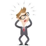 Uomo d'affari frustrato che grida Immagini Stock Libere da Diritti