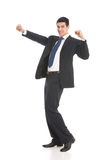 Uomo d'affari gesturing felice Fotografia Stock Libera da Diritti