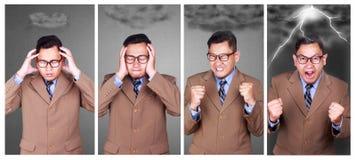 Uomo d'affari Gets Really Mad fotografia stock