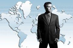 Uomo d'affari globale Immagine Stock