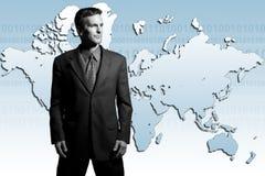 Uomo d'affari globale Fotografia Stock